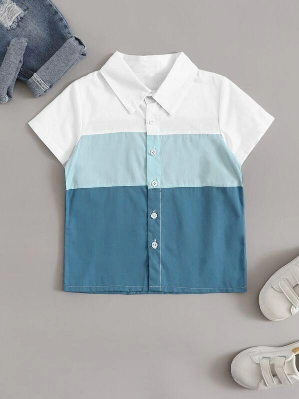 Toddler Boys Cut And Sew Shirt