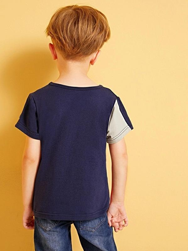 Toddler Boys Cut And Sew Tee