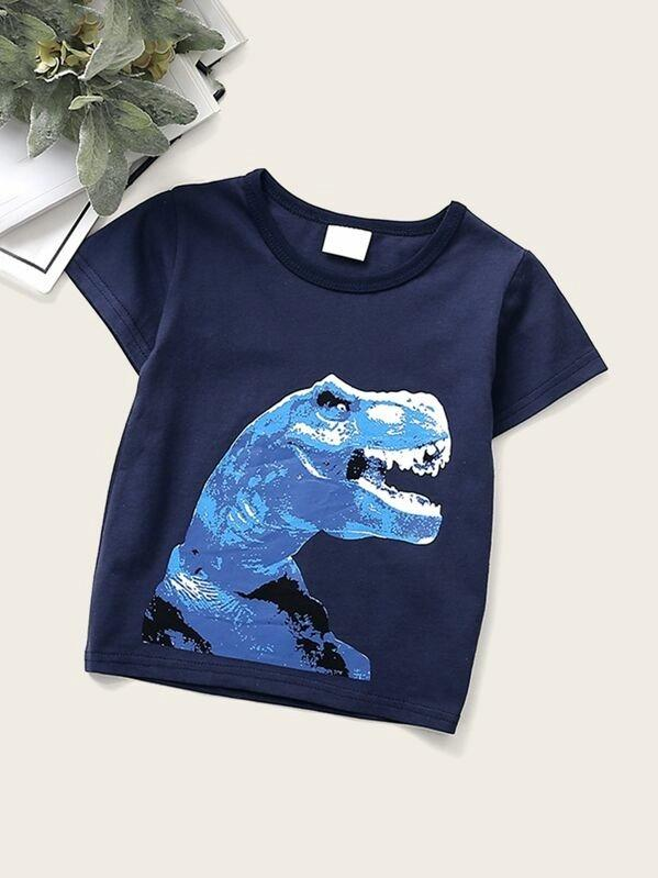 Toddler Boys Dinosaur Print Tee