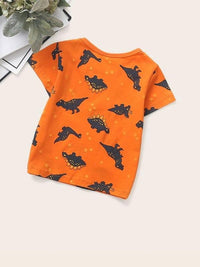 Toddler Boys Dinosaur & Star Print Tee