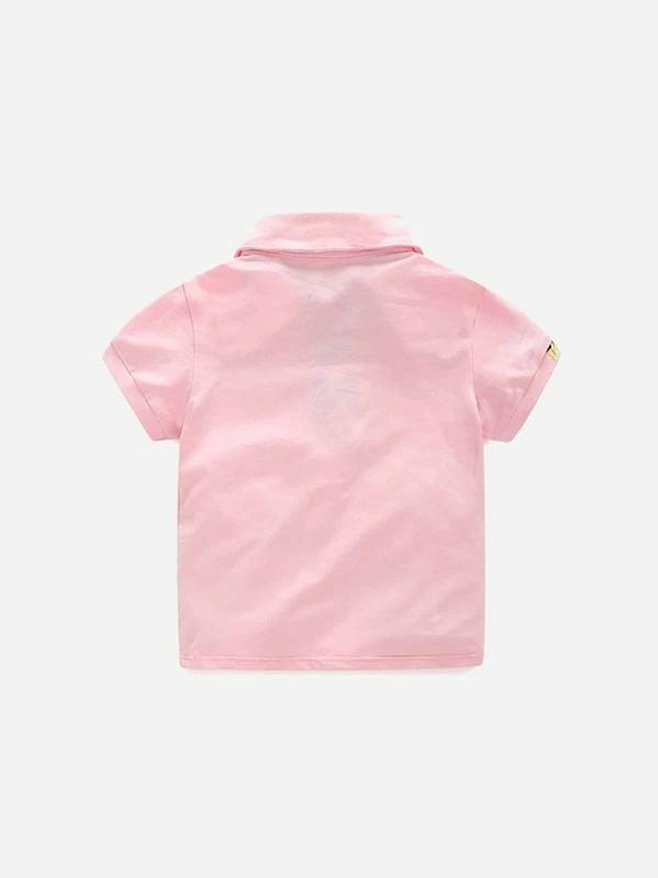 Toddler Boys Floral Print Polo Shirt With Shorts