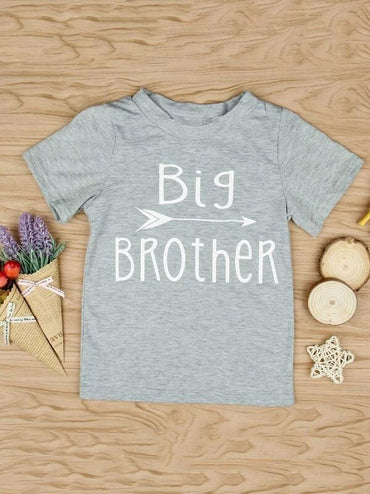 Toddler Boys Letter Graphic Tee