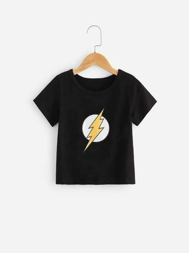 Toddler Boys Lightning Print Tee