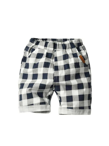 Toddler Boys Patched Buffalo Plaid Shorts