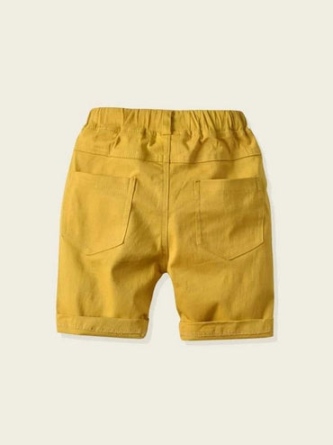 Toddler Boys Patched Letter Print Shorts