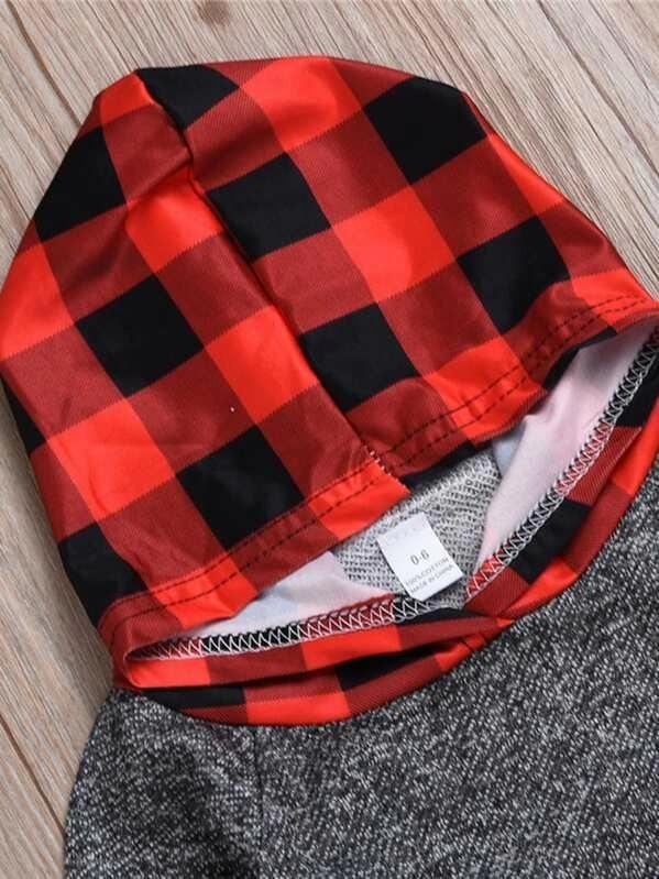 Toddler Boys Plaid Hoodie With Pants