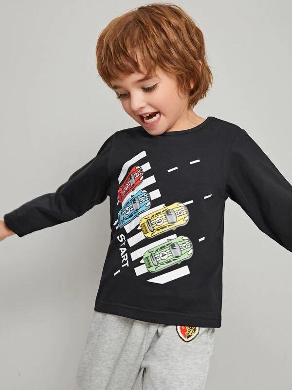 Toddler Boys Racing Car Print Tee