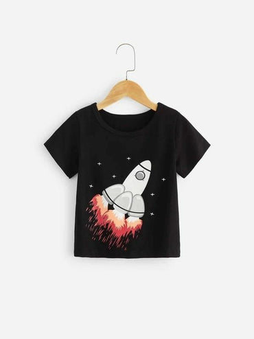 Toddler Boys Rocket Print Tee
