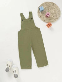 Toddler Boys Side Pockets Cargo Overalls