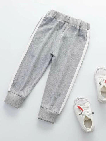 Toddler Boys Side Stripe Letter Graphic Sweatpants