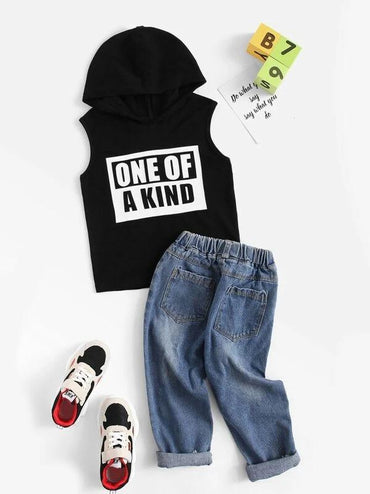 Toddler Boys Slogan Graphic Sleeveless Tee