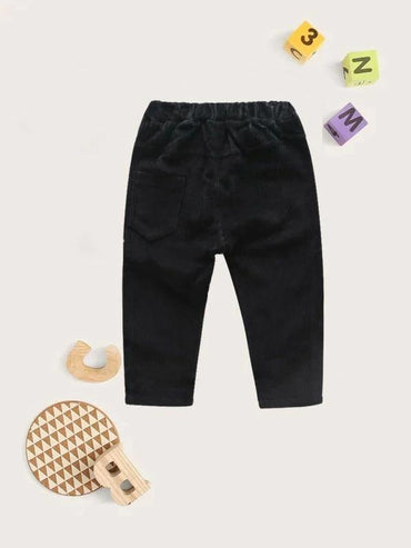 Toddler Boys Solid Corduroy Carrot Pants