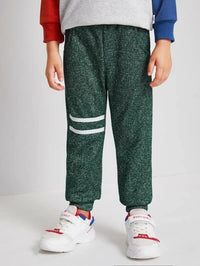 Toddler Boys Space Dye Striped Tape Sweatpants
