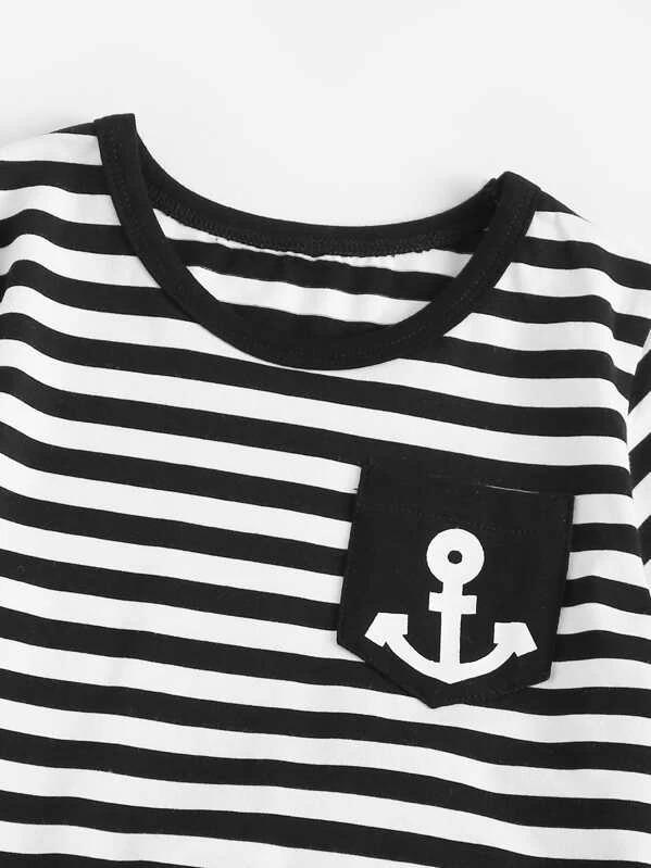 Toddler Boys Striped Tee With Pants
