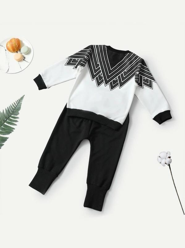 Toddler Boys Striped Top With Pants