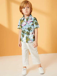 Toddler Boys Tropical & Animal Print Shirt