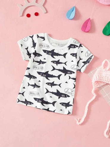 Toddler Boys Whale Print T-Shirt