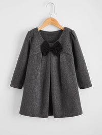 Toddler Girls Bow Front Smock Dress