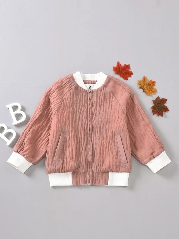 Toddler Girls Colorblock Bomber Jacket