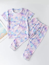 Toddler Girls Galaxy Print Tee & Leggings