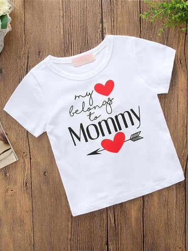 Toddler Girls Heart Slogan Graphic Tee