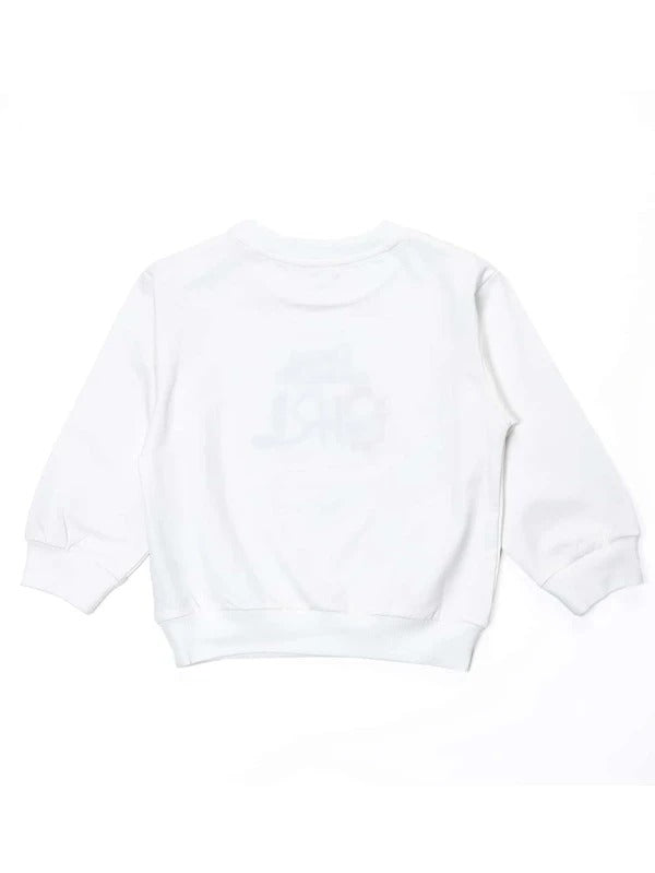 Toddler Girls Letter Embroidery Sweatshirt