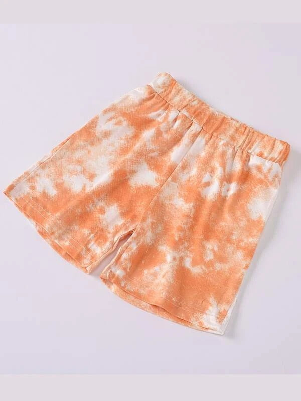 Toddler Girls Tie Dye Tee & Shorts