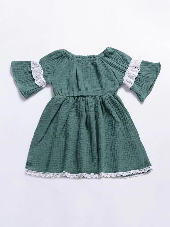 Toddler Girl Lace Panel Dress
