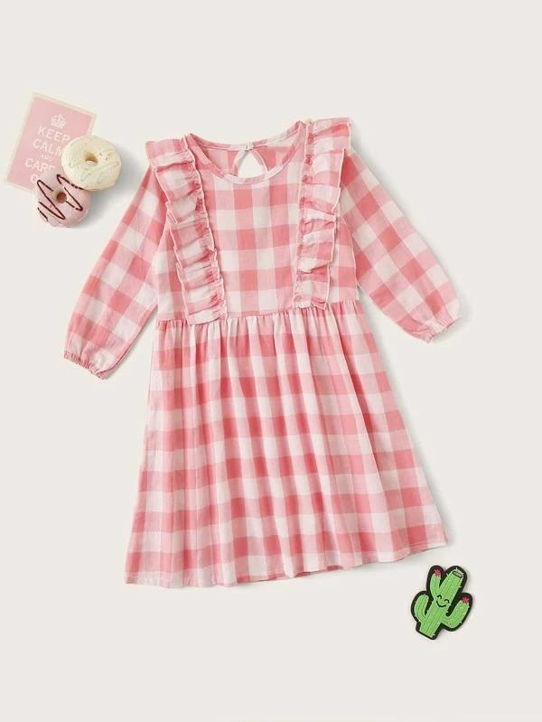 Toddler Girls Buffalo Plaid Night Dress