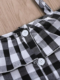 Toddler Girls Button Front Gingham Blouse