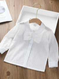 Toddler Girls Button Through Bow Detail Blouse