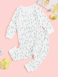 Toddler Girls Cactus Print Pajama Set