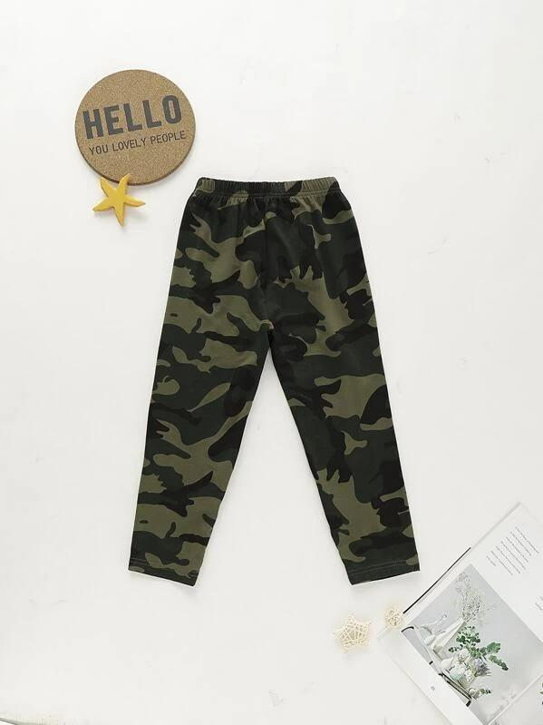 Toddler Girls Camo Elastic Waist Leggings