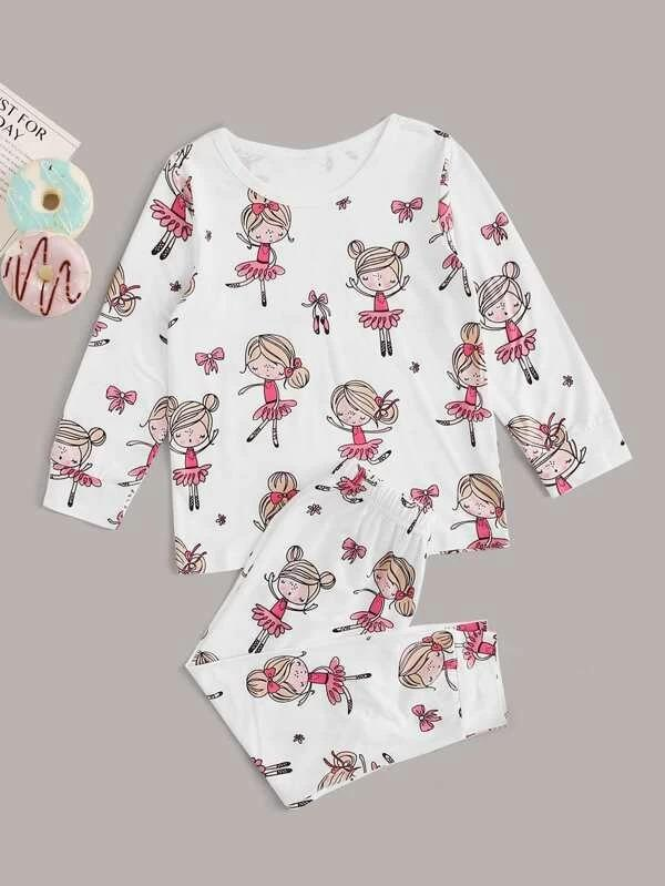 Toddler Girls Cartoon Girls PJ Set