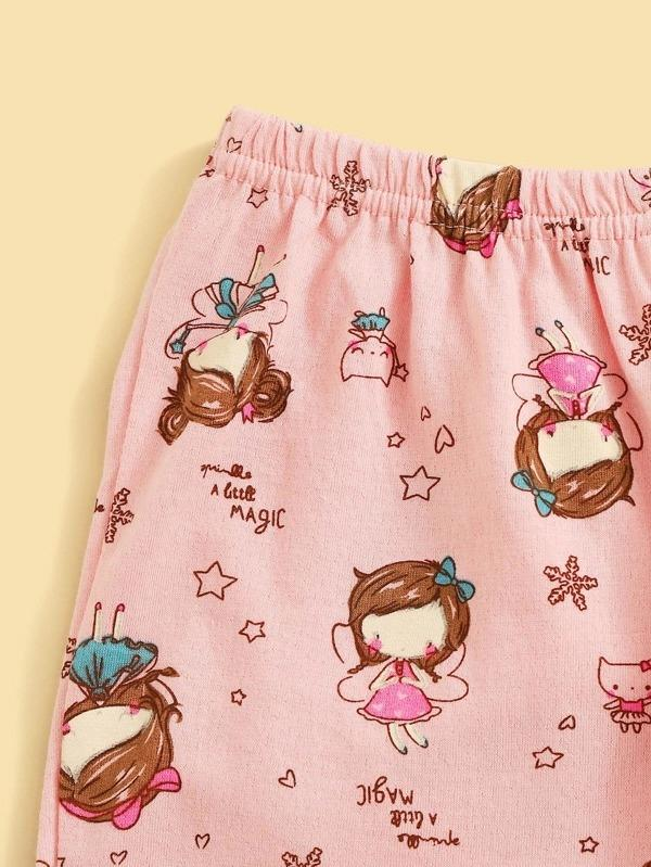 Toddler Girls Cartoon Graphic Pajama Set