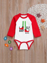 Toddler Girls Christmas Letter Print Jumpsuit