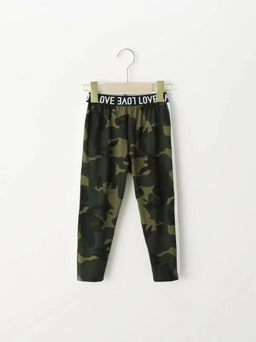 Toddler Girls Contrast Side Camo Pants