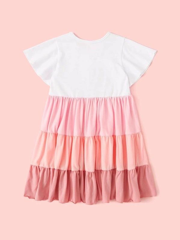 Toddler Girls Cut And Sew Button Front A-Line Dress