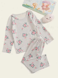 Toddler Girls Floral Print PJ Set