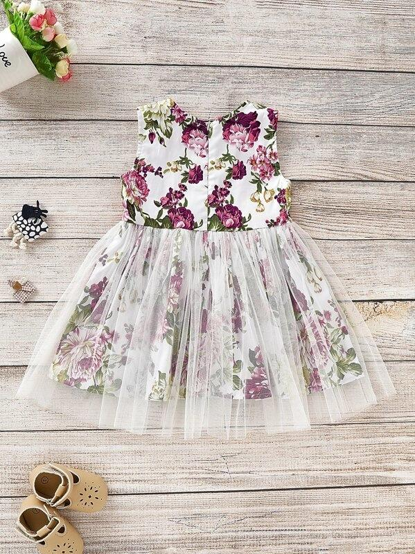 Toddler Girls Floral Tutu Tank Dress