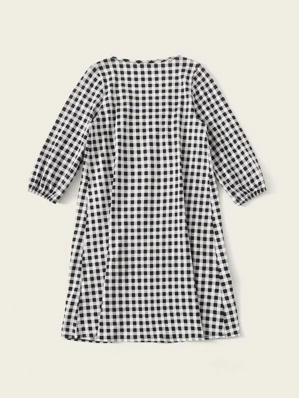 Toddler Girls Gingham Night Dress