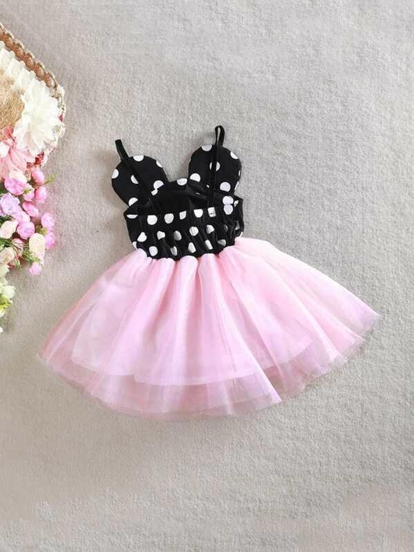 Toddler Girls Polka Dot Tutu Cami Dress