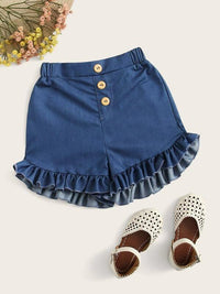 Toddler Girls Ruffle Hem Shorts