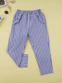 Toddler Girls Striped Cigarette Pants