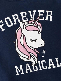 Toddler Girls Unicorn And Letter Print Sweatshirt