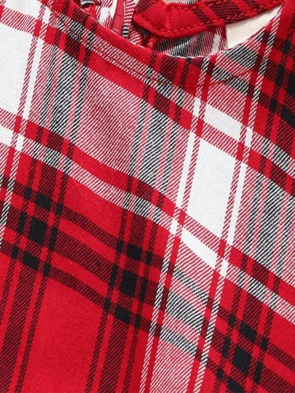 Toddler Girls Zip Back Tartan Dress