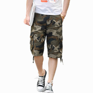 New Fashion Men Camouflage Military Cargo Shorts