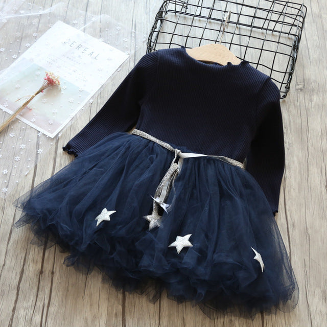 Toddler Girl Dress Mesh Casual Lace Embroidery Princess Dress