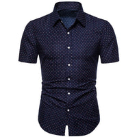Men Fashion Design Slim Loose Short Sleeve Shirt