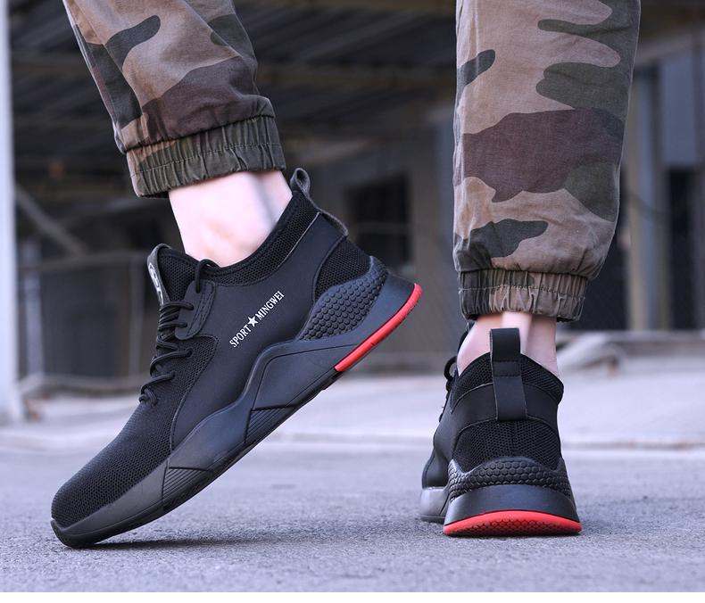 Men Steel Toe Safety Casual Breathable Outdoor Sneakers